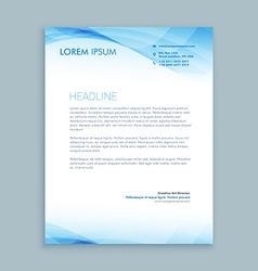 Business wave letterhead template vector