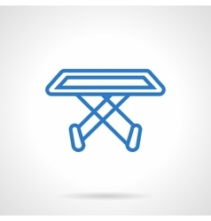 Clothes dryer stand blue line icon vector