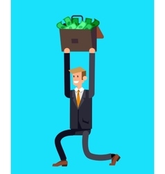 Detailed character business investor vector