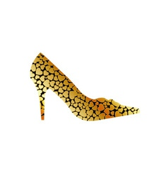Gold shoe vector image
