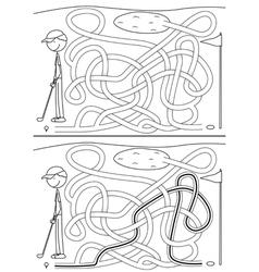 Golf maze vector image vector image