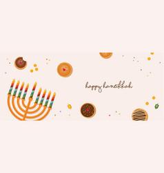 Hanukkah dougnut jewish holiday symbol sweet vector