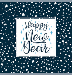 happy new year lettering designs elements vector image vector image