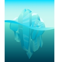 Iceberg in ocean vector