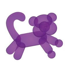 Monkey balloon figure icon vector