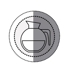 Monochrome sticker contour in circular dot line vector