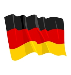 Political waving flag of germany vector