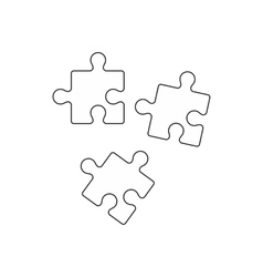 Puzzle icon outline style vector image vector image