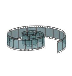 Realistic filmstrip roll vector