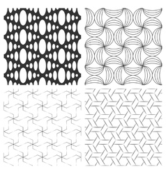 Simple textured backgrounds with geometric vector image vector image