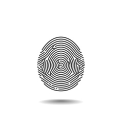 Stylized thumbprint on the white background vector