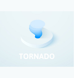 Tornado isometric icon isolated on color vector