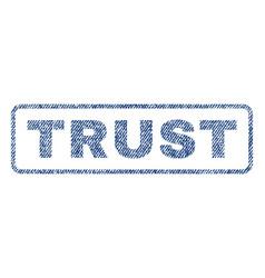 Trust textile stamp vector
