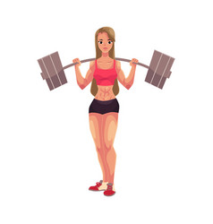 young woman female bodybuilder weightlifter vector image vector image
