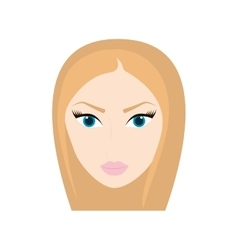 Woman head girl female person hair icon vector