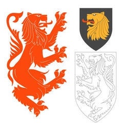 Red Lion vector image