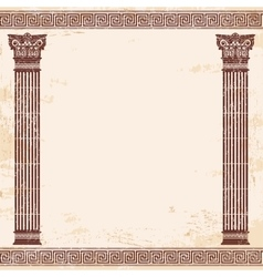 Greek background vector