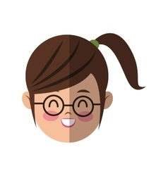 Young woman cartoon icon vector