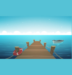 cartoon pier vector image