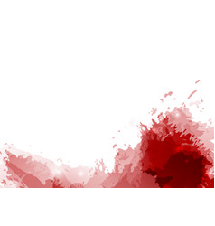 Red paint splatter abstract modern background vector