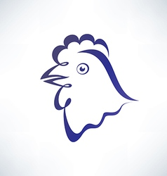 chicken isolated symbol outlined sketch vector image