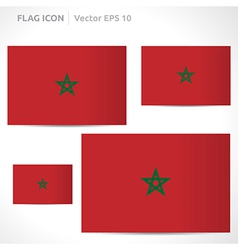 Morocco flag template vector