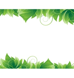 Lush foliage on white background vector