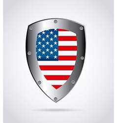 american shield design vector image