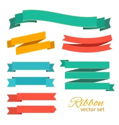 Set of ribbons vintage style for design vector