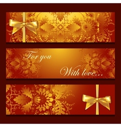 Template banners with filigree pattern vector