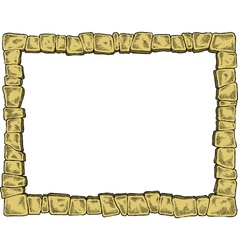 Frame made of stones vector