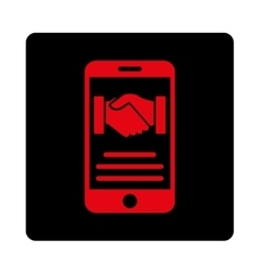 Mobile agreement icon vector