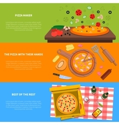 Pizza banner set vector