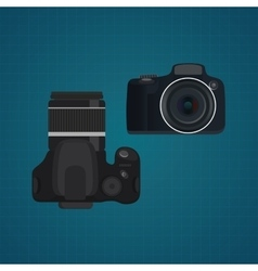 Camera slr dslr from front and vector
