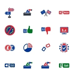 Brexit british referendum concept icons vector
