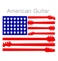 an american flag made out of guitar parts vector image