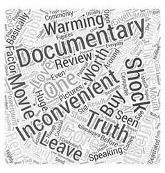 An inconvenient truth movie review word cloud vector