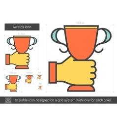 Awards line icon vector image