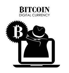 Bitcoin design vector image vector image