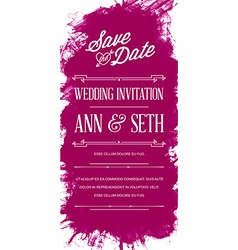 Bright Colorful Watercolor Art Style Invitation vector image vector image