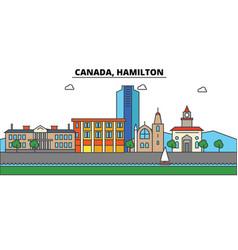 canada hamilton city skyline architecture vector image vector image