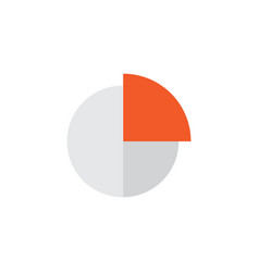 Circle graph flat icon symbol premium quality vector
