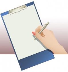 clip pad vector image vector image