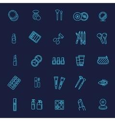 Cosmetics line icons vector