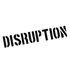 Disruption black rubber stamp on white vector