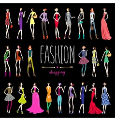 Fashion shopping vector image vector image