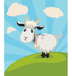 Goat on Lawn vector image vector image