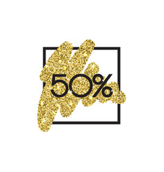 Gold sale 50 percent shine salling background for vector