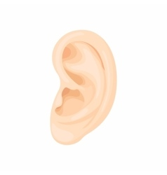 Human ear icon cartoon style vector