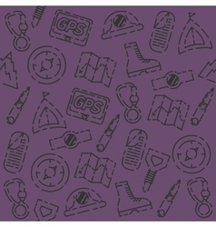 Mountaineering set pattern vector